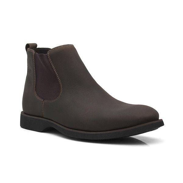 Botina Masculina - Crazy Horse Café - Comfort - Bico Redondo - Cano Curto - Solado Gel Dress - Vimar Boots - 87012-A-VR