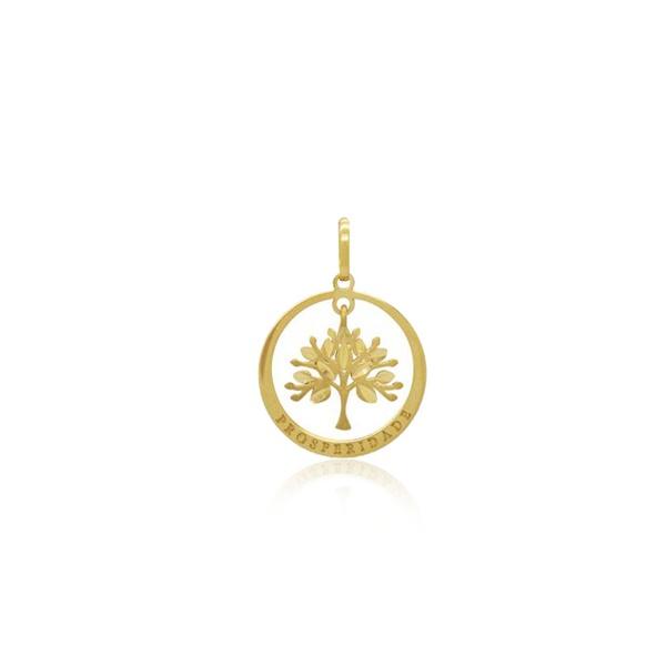 Pingente Árvore da vida mini em ouro 18k