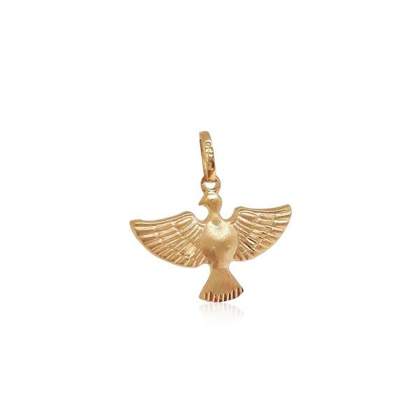 Pingente Espírito Santo grande em ouro 18k