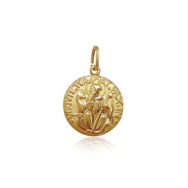 Pingente de São bento Médio em ouro 18k