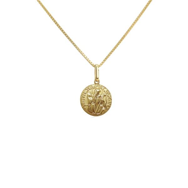 Pingente de São bento mini em ouro 18k