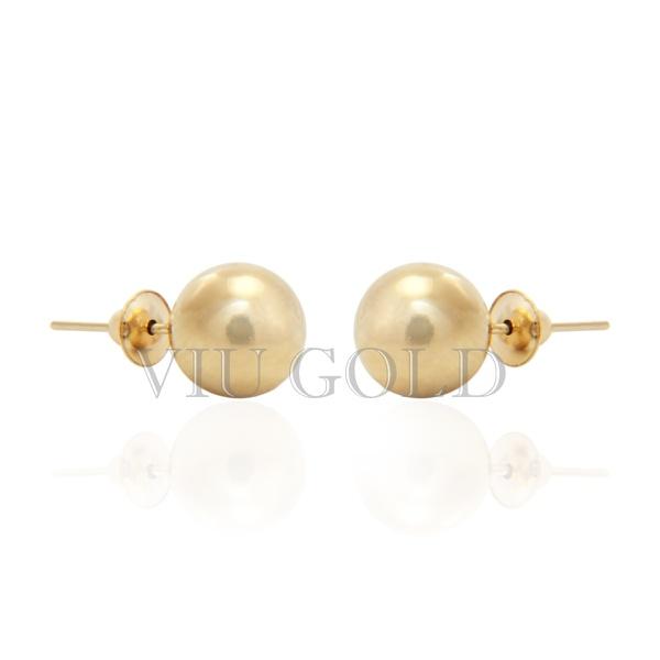 Brinco bola em ouro 18k amarelo de 7.0 mm