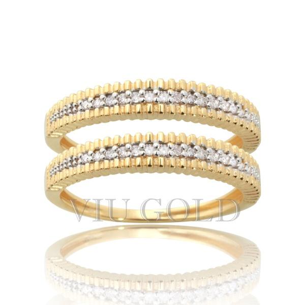 Aparador em ouro 18k amarelo e branco com Diamantes