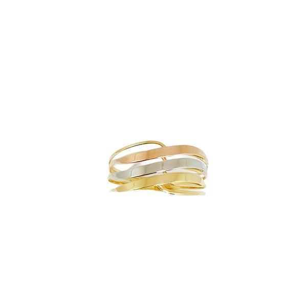Anel em ouro 18k - Anel amarelo, branco e rose