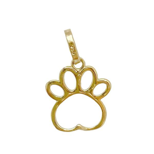 Pingente Pata de cachorro em ouro 18 k