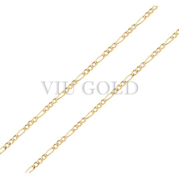Corrente 3x1 de 60cm em ouro 18k amarelo