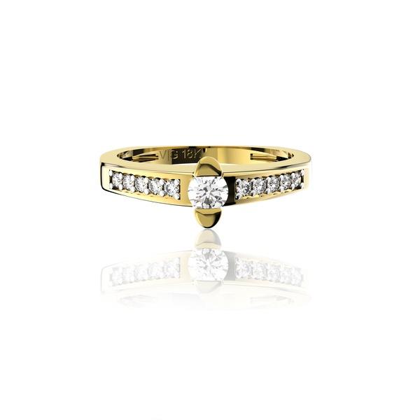 Anel solitário em Ouro 18K Amarelo com Diamante de 15 Pontos (Veja o vídeo)