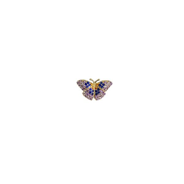 Pingente borboleta cravejado com zirconias em ouro 18K