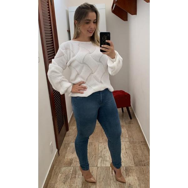 CALÇA FEMININA LEGGING JEANS CLARO LOOPPER MODELADORA