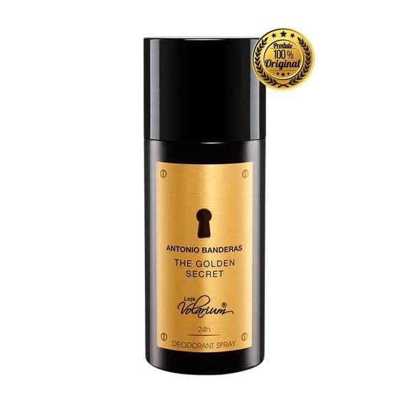 DESODORANTE MASCULINO IMPORTADO THE GOLDEN SECRET ANTONIO BANDEIRAS 150 ML