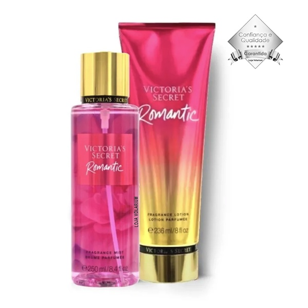KIT CREME HIDRATANTE + BODY SPLASH VICTORIA SECRET ROMANTIC IMPORTADO ORIGINAL