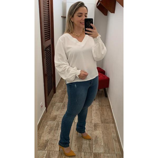 CALÇA FEMININA JEANS LOOPPER MODELADORA LEVANTA BUMBUM