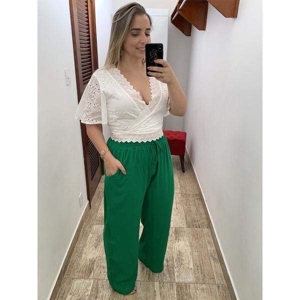 CALÇA FEMININA PANTALONA VERDE