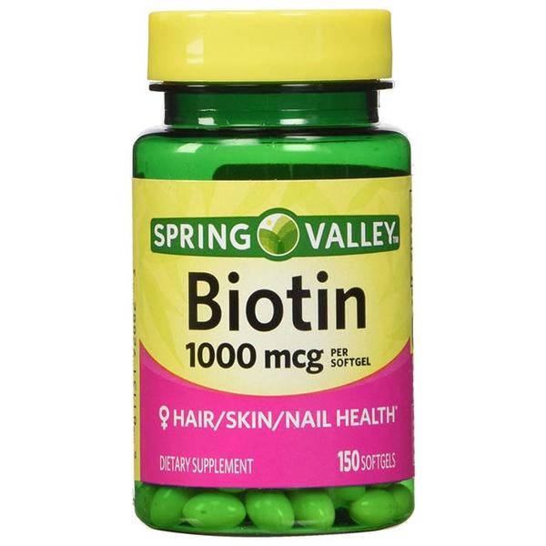 Biotina Suplemento Para Unhas Pele e Cabelo 1000mcg 150 softgels