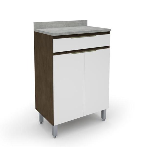 Gabinete Para Cozinha 2 Portas 1 Gaveta 5179.18 New Madeirado/ Branco - Batrol Móveis