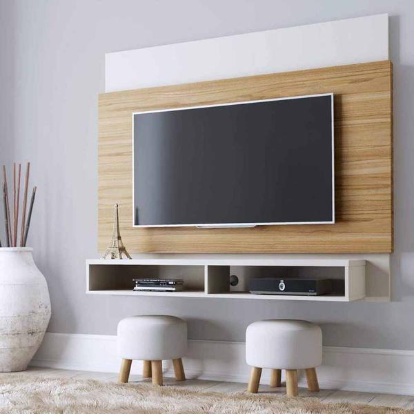 Painel Para Tv Até 60'' Parker Cinamomo/Offwhite - Móveis Província