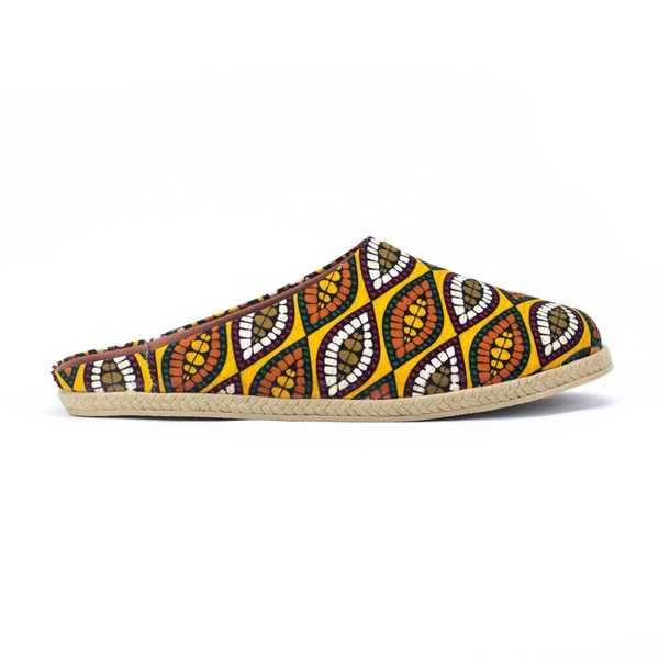 Mule Slipper Estampa Afro Évora
