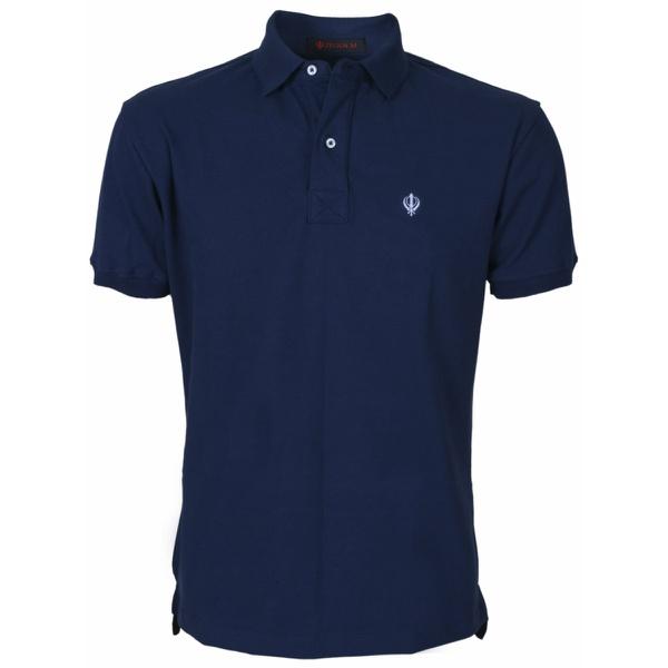 Camisa Polo Masculina Azul Marinho Piquet Premium