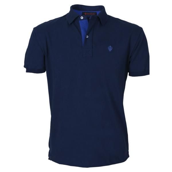 Camisa Polo Zegen Azul Marinho Detalhe Azul Royal