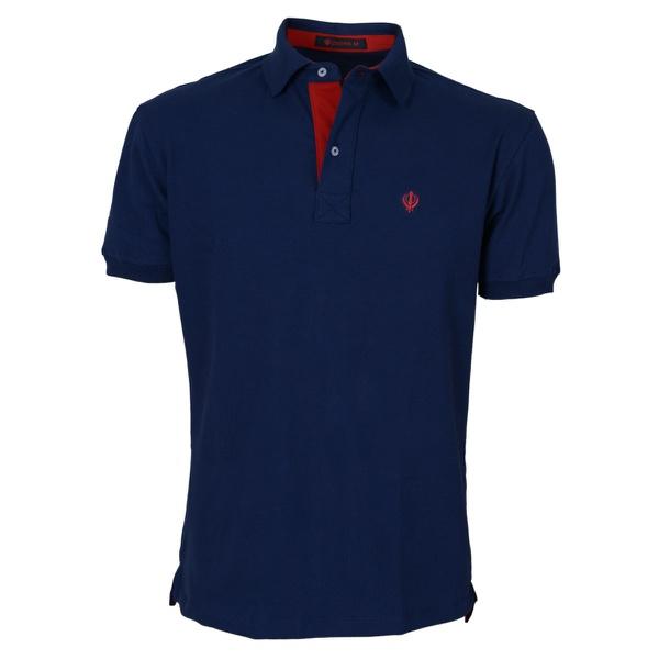 Camisa Polo Masculina Zegen Azul Marinho DV