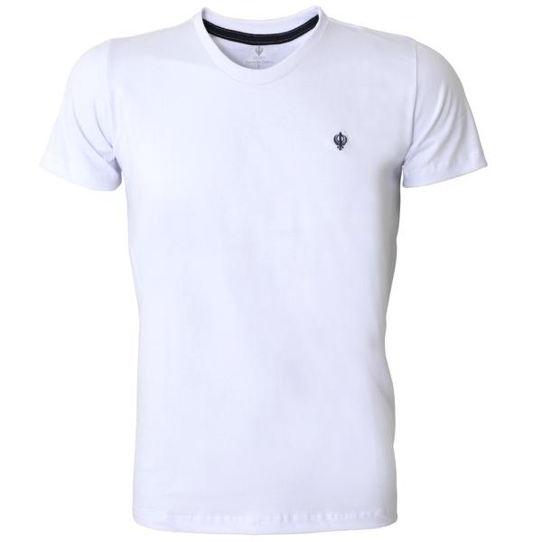 Camiseta Masculina Zegen Branca Dazm