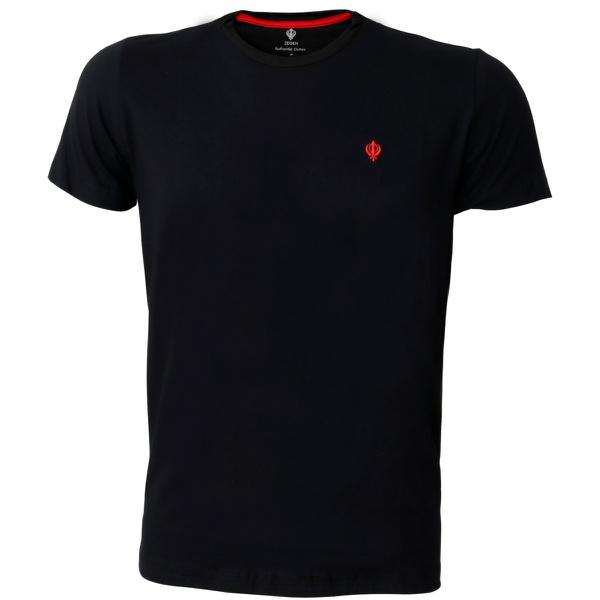 Camiseta Basica Masculina Zegen Preta Dvm