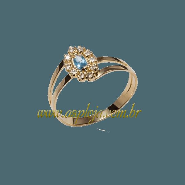 Anel de Formatura Ouro amarelo 18k 750-ASP-AF-149