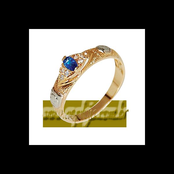 Anel de Formatura Ouro amarelo 18k 750 com pedras laterais em diamantes-ASP-AF-101