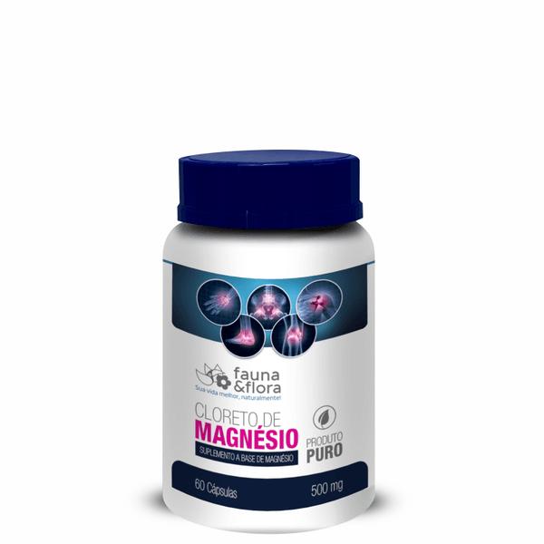 Cloreto de Magnésio Suplemento Mineral 500mg 60caps