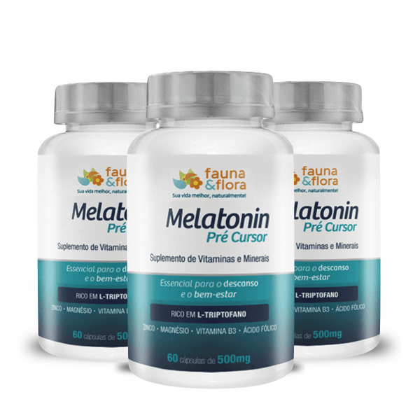 Melatonin Pré-Cursor do Sono: Kit Para 3 Meses