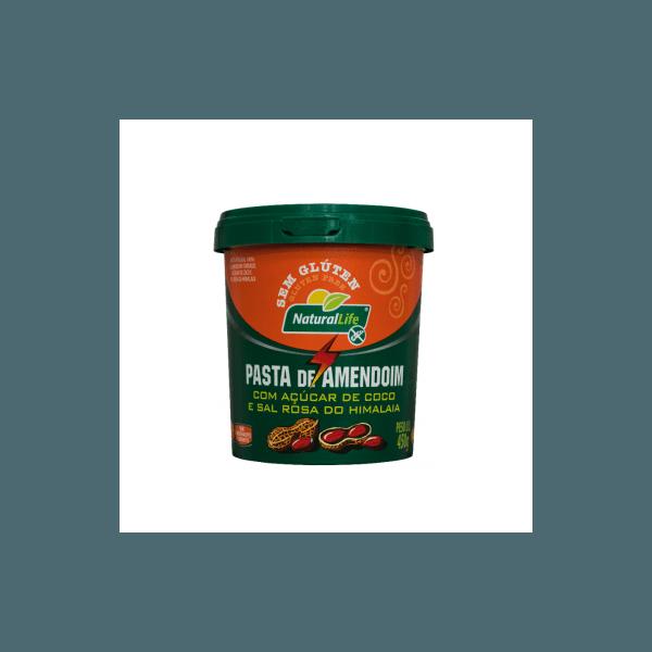 Pasta de Amendoim Pote Com Açúcar de Coco e Sal do Himalaia 450g