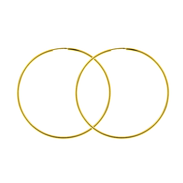 Brinco Argola de Ouro 18K 3,5 cm Fio Redondo