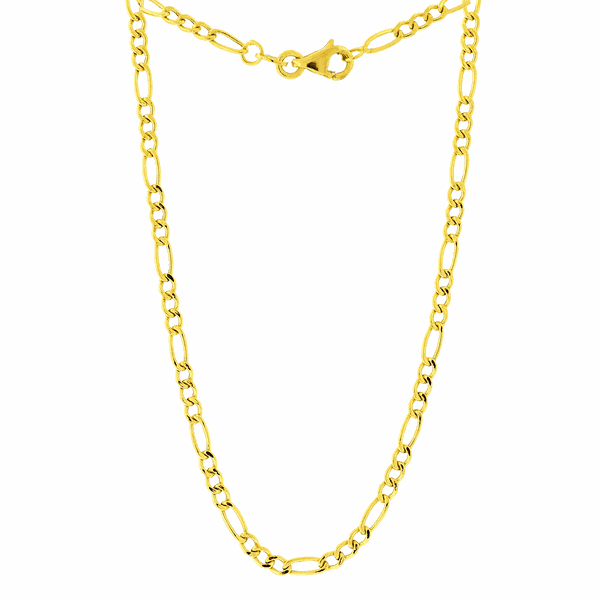 Corrente Masculina de Ouro 18K Elos 3x1 60cm