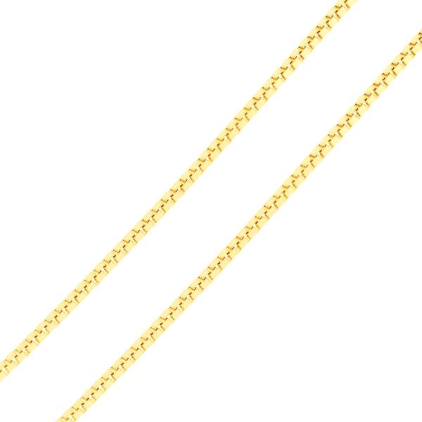 Corrente de Ouro 18K Malha Veneziana de 45cm Média