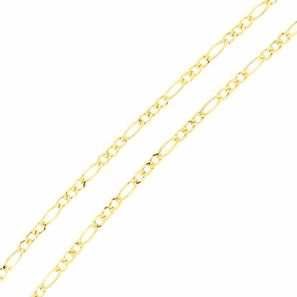 Corrente Ouro 18K Malha 3x1 60cm