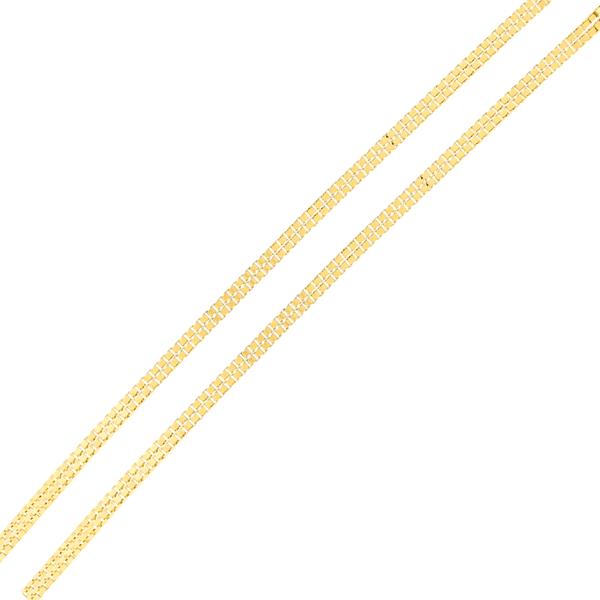 Corrente de Ouro 18K Malha Veneziana Dupla de 45cm