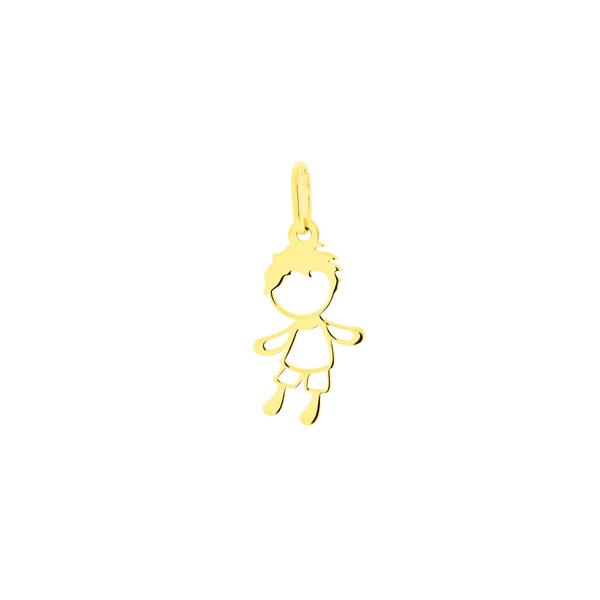 Pingente de Ouro 18K Pequeno Menino