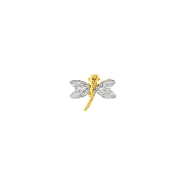 Pingente de Libélula Ouro 18K com Ródio Pequeno
