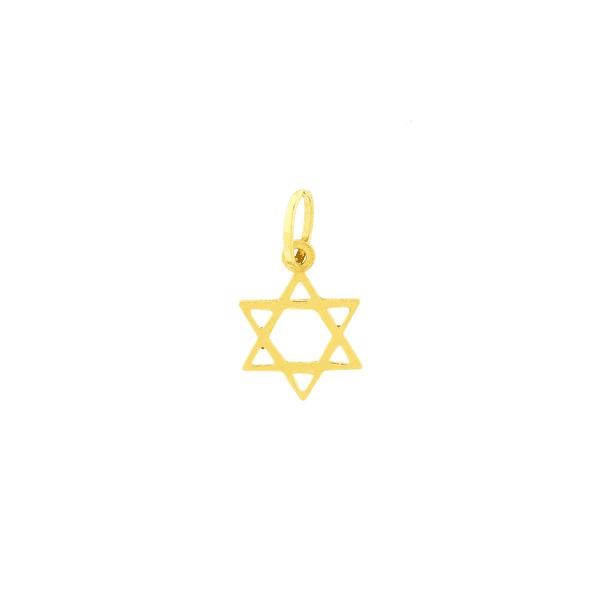 Pingente Estrela de Davi Pequeno de Ouro 18K