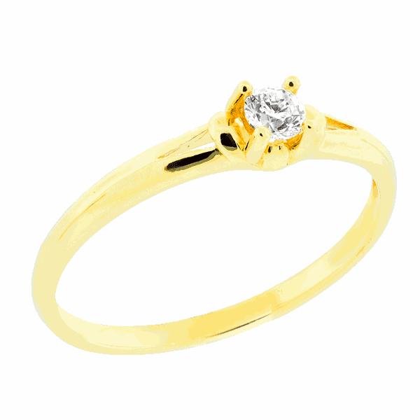 Anel em Ouro 18K Solitário Cartier de Diamante