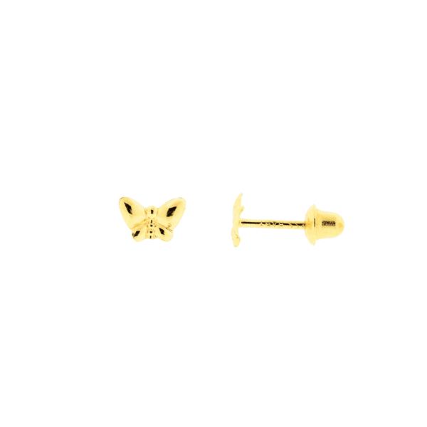 Brinco Infantil Borboleta Ouro 18K