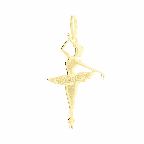 Pingente de Ouro 18K Bailarina Terceira Posição