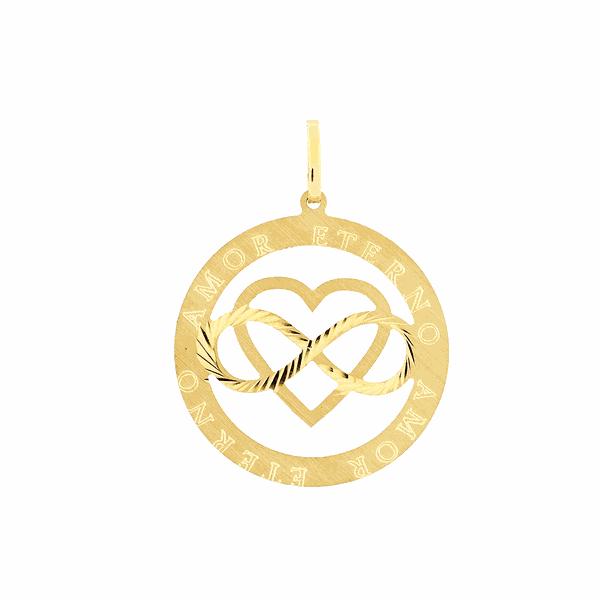 Pingente Amor Eterno em Ouro 18K