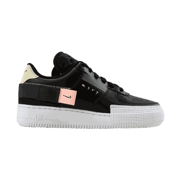 TÊNIS NIKE AIR FORCE 1 TYPE BLACK ZINNIA