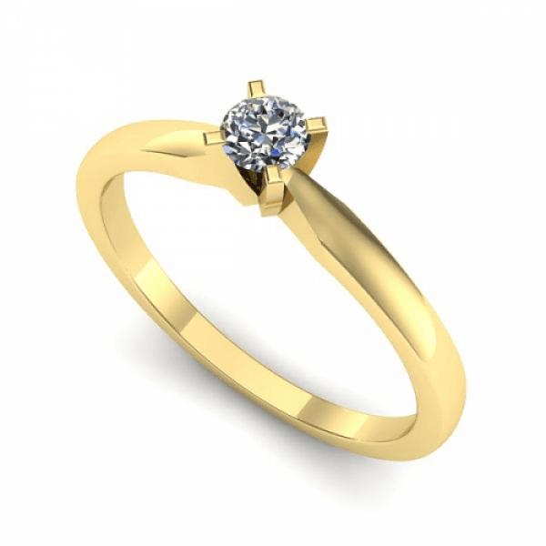 Anel Solitário de Diamante RJ