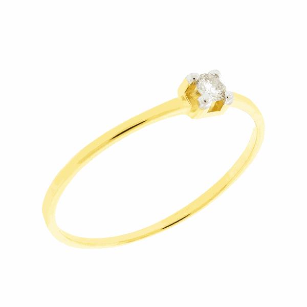Anel Solitário Cartier com Brilhante em Ouro 18K