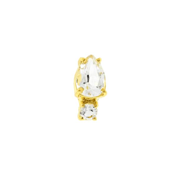 Piercing de Orelha Ouro 18K com Topázios