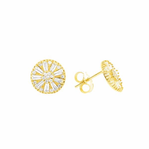 Brinco Círculos de Zircônias em Ouro 18K