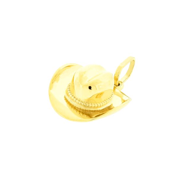 Pingente Chapéu com Nossa Senhora Ouro 18K