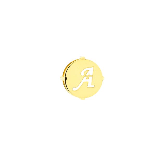 Pingente de Ouro 18K Letra A Redondo
